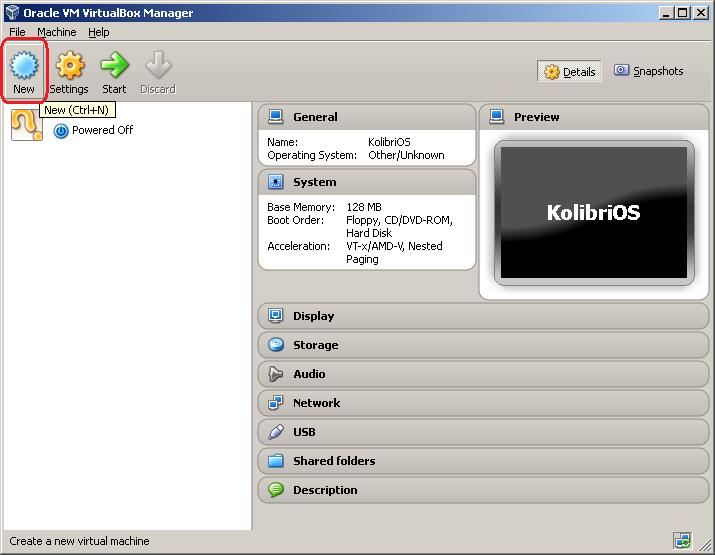 Setting up VirtualBox - KolibriOS wiki